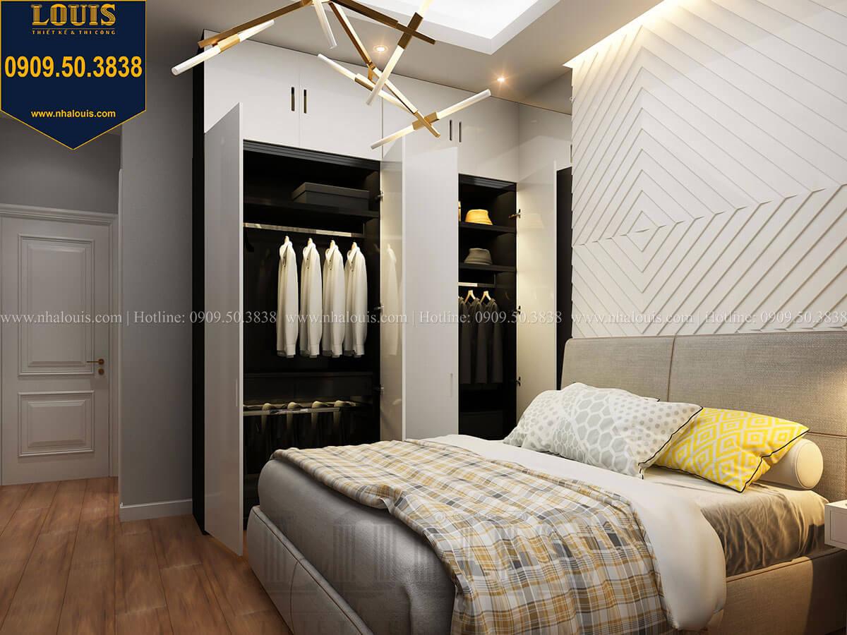 Phòng ngủ Mẫu nhà phố 3 tầng hiện đại với 2 mặt tiền tại Tân Phú - 26