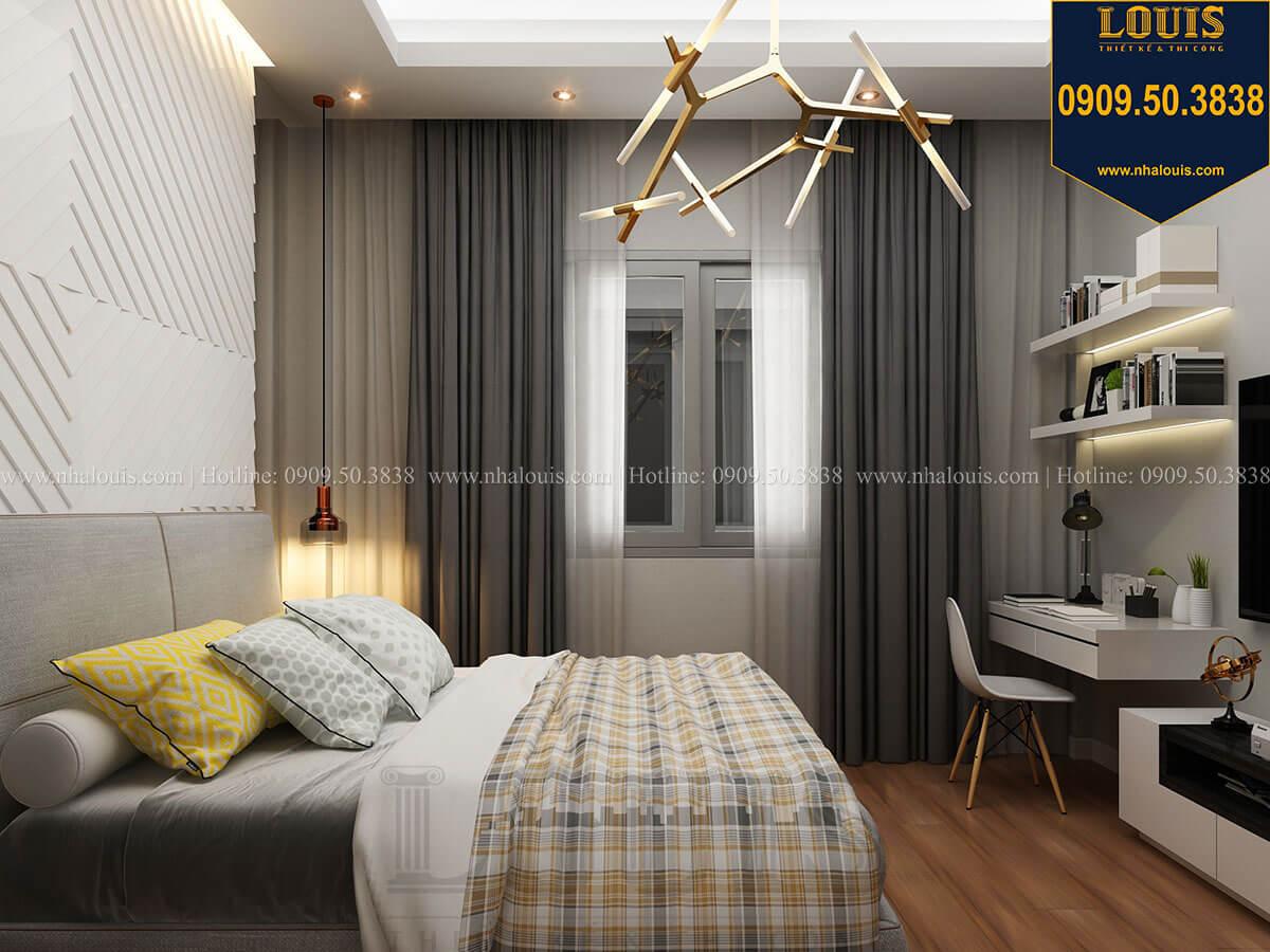 Phòng ngủ Mẫu nhà phố 3 tầng hiện đại với 2 mặt tiền tại Tân Phú - 27