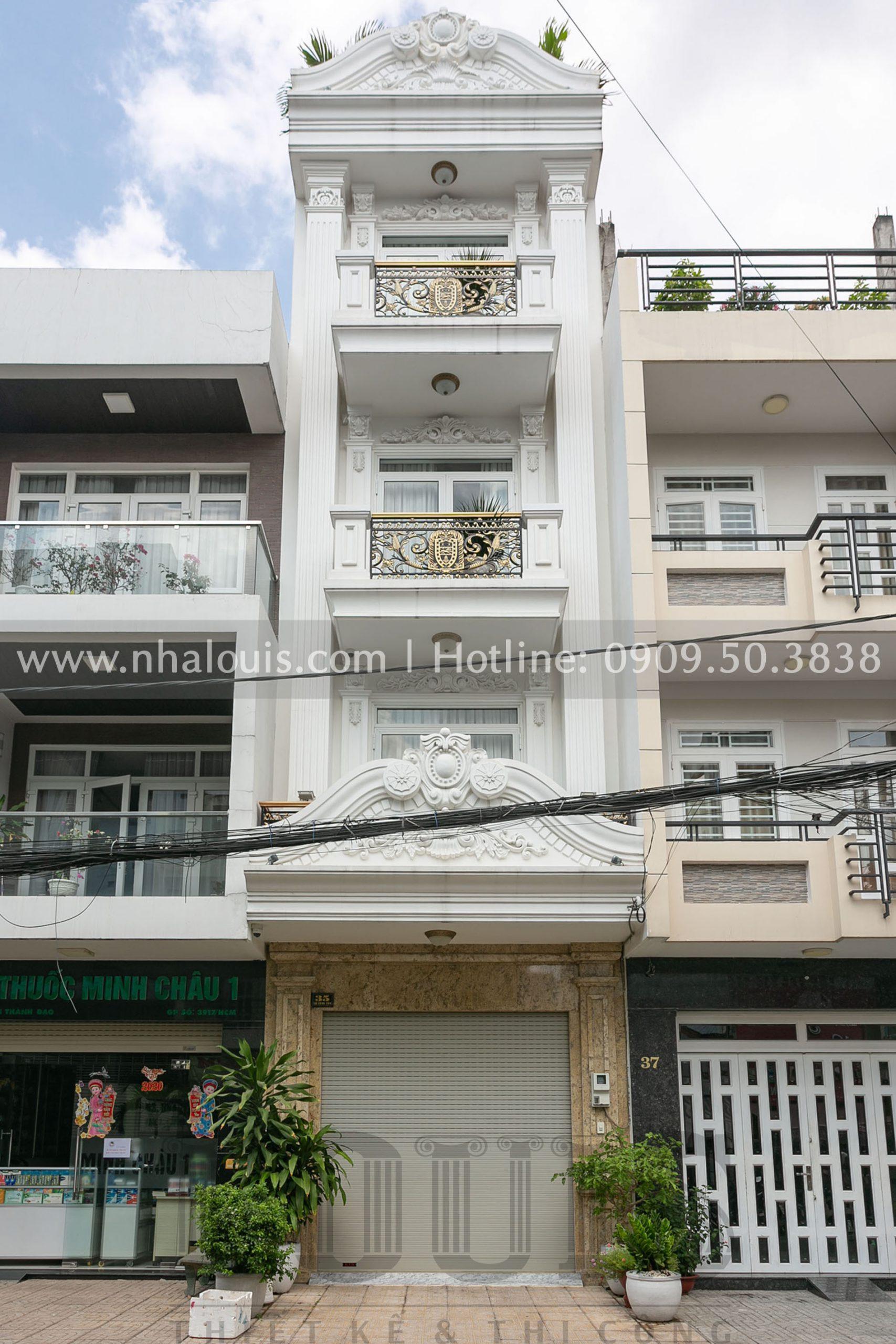 Hình ảnh mẫu nhà phố 5 tầng mặt tiền 4m khi hoàn thiện