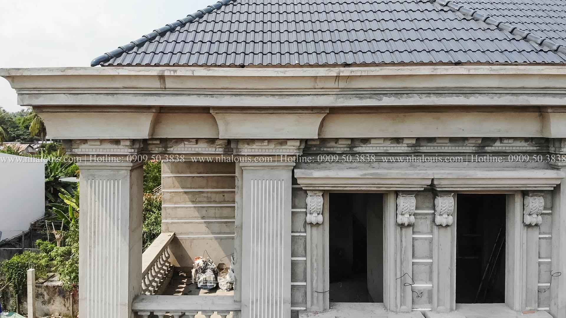 Lắp đặt các hạng mục ngoại thất, nội thất mẫu biệt thự đẹp 2 tầng tân cổ điển Tây Ninh