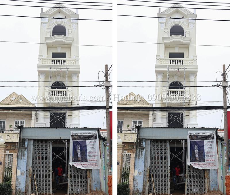 Dự án thi công thiết kế nhà tân cổ điển 6 tầng đẹp tại Bình Chánh