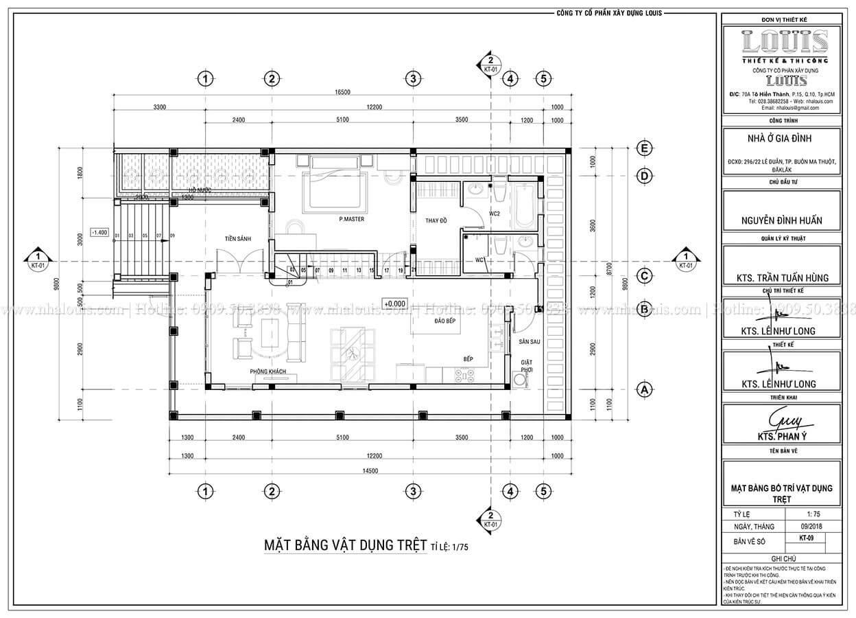 Mặt bằng tầng trệt Biệt thự mini phong cách đồng quê kiểu Mỹ tại Đăk Lăk - 10