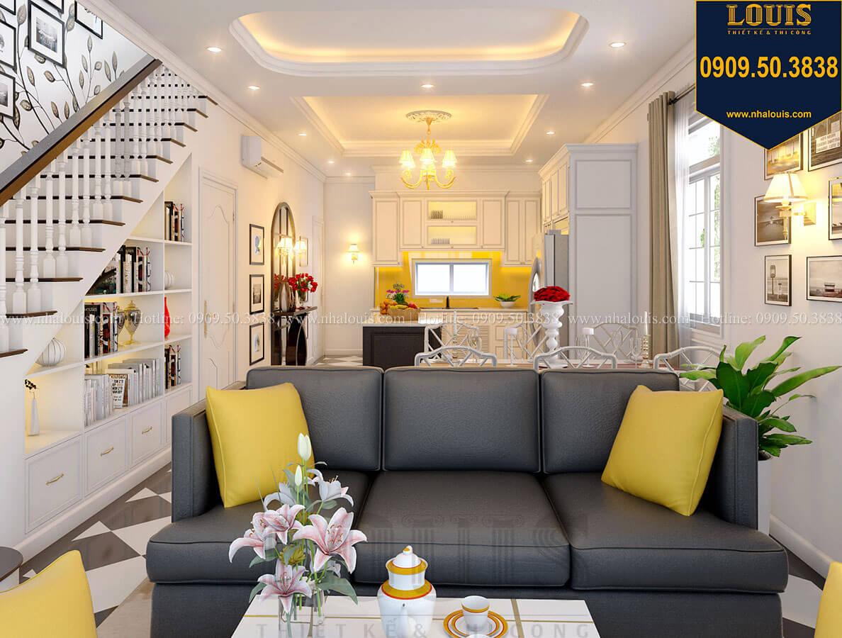 Phòng khách Biệt thự mini phong cách đồng quê kiểu Mỹ tại Đăk Lăk - 13