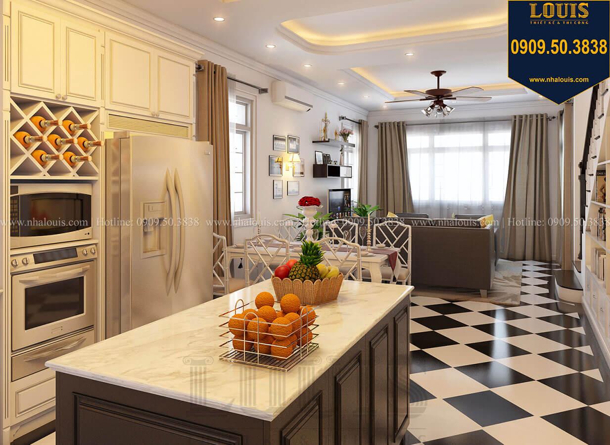 Bếp và phòng ăn Biệt thự mini phong cách đồng quê kiểu Mỹ tại Đăk Lăk - 14