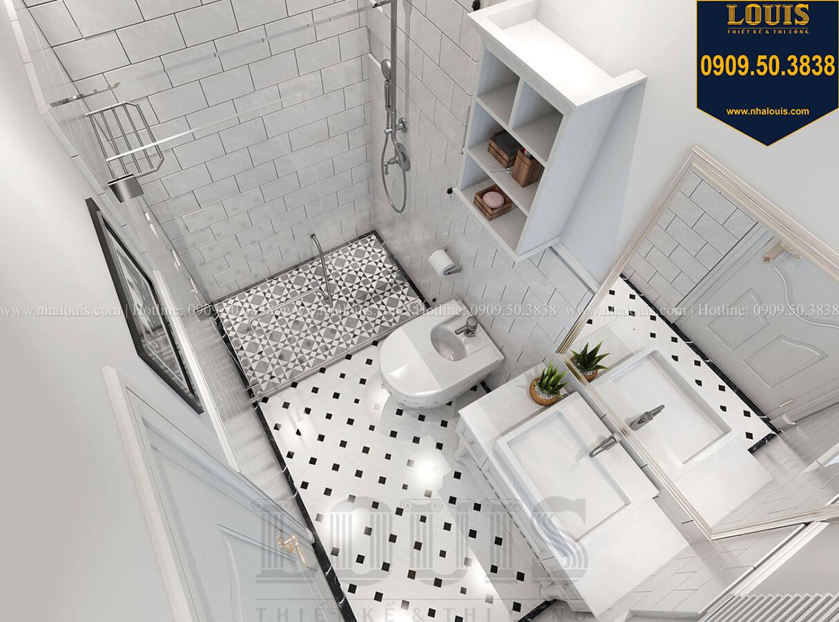 Phòng tắm và WC Biệt thự mini phong cách đồng quê kiểu Mỹ tại Đăk Lăk - 18