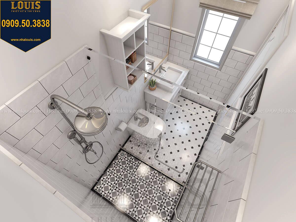 Phòng tắm và WC Biệt thự mini phong cách đồng quê kiểu Mỹ tại Đăk Lăk - 19