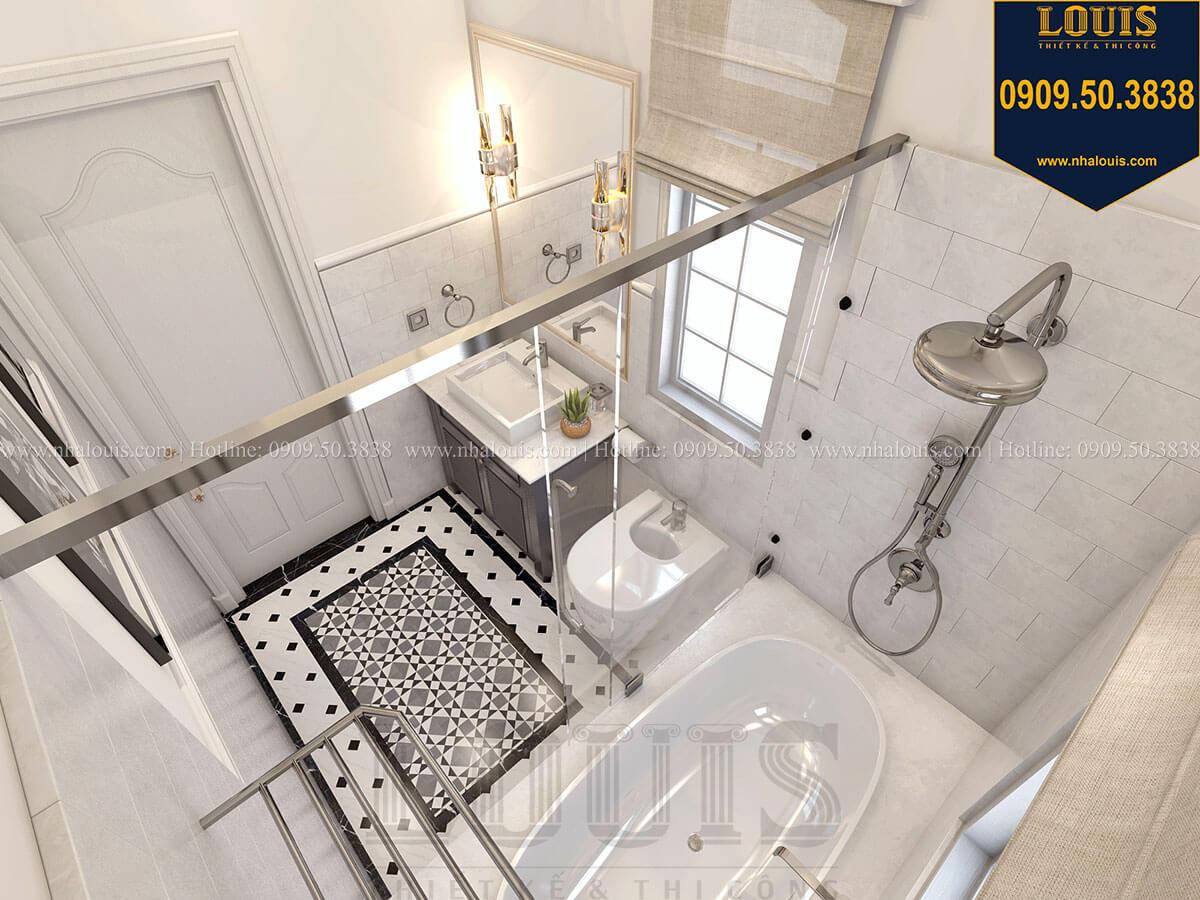 Phòng tắm và WC Biệt thự mini phong cách đồng quê kiểu Mỹ tại Đăk Lăk - 25