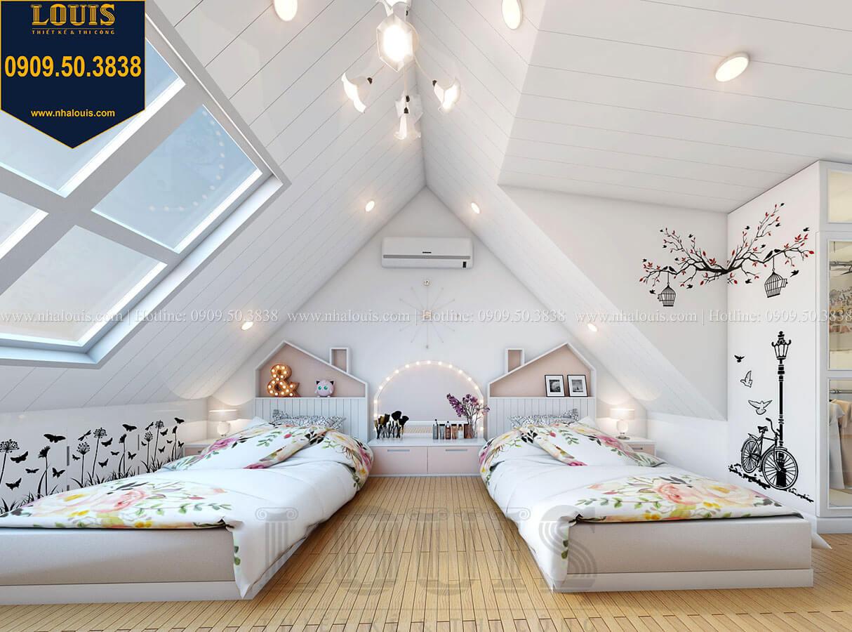 Phòng ngủ con gái Biệt thự mini phong cách đồng quê kiểu Mỹ tại Đăk Lăk - 26