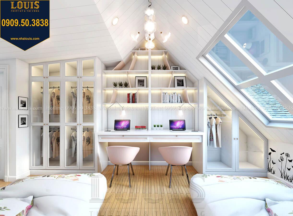 Phòng ngủ con gái Biệt thự mini phong cách đồng quê kiểu Mỹ tại Đăk Lăk - 27