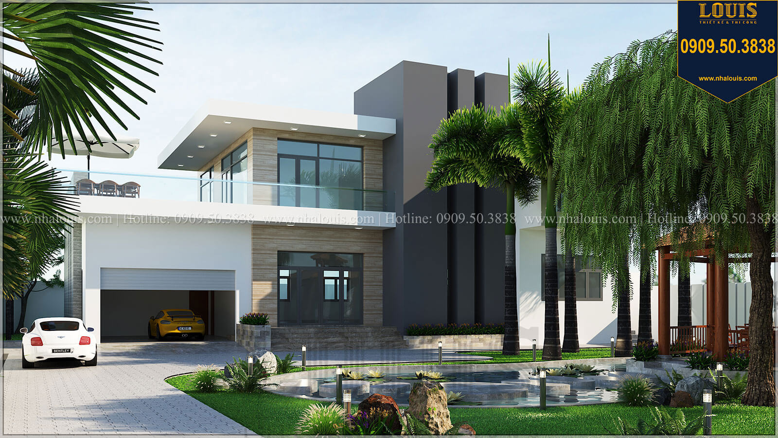 Đặc điểm phong cách kiến trúc hiện đại và tính ứng dụng vào các mẫu thiết kế biệt thự