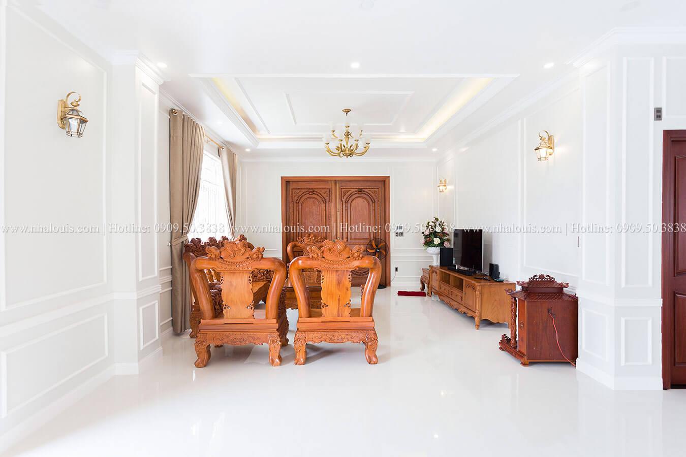 Phòng khách ngày hoàn thiện
