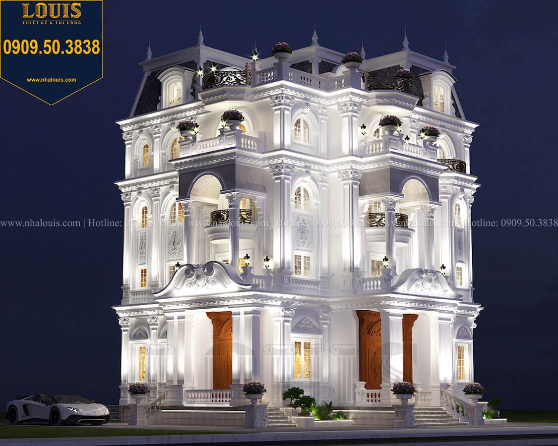 Khởi công công trình biệt thự 5 tầng cổ điển đẹp sang chảnh tại Nhà Bè