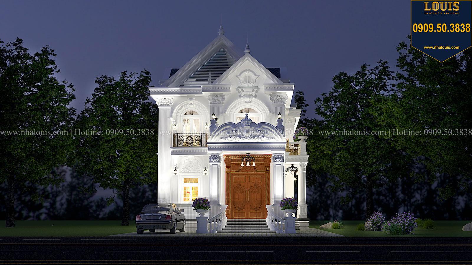 Mặt tiền Mẫu biệt thự 2 tầng mặt tiền 9m với mái thái ấn tượng tại Tiền Giang - 03