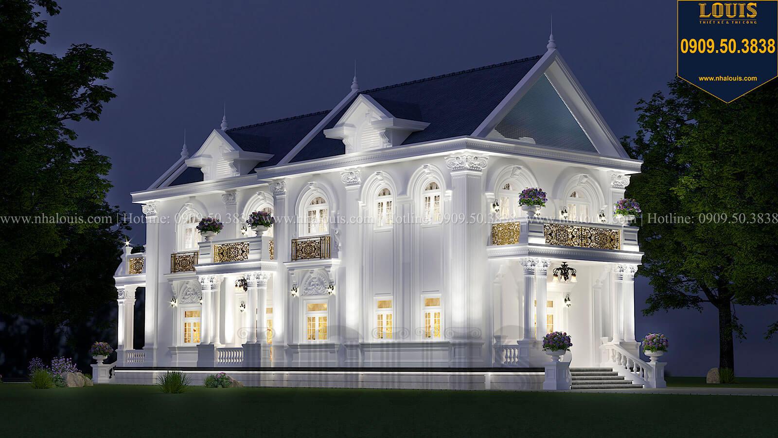 Mặt tiền Mẫu biệt thự 2 tầng mặt tiền 9m với mái thái ấn tượng tại Tiền Giang - 04