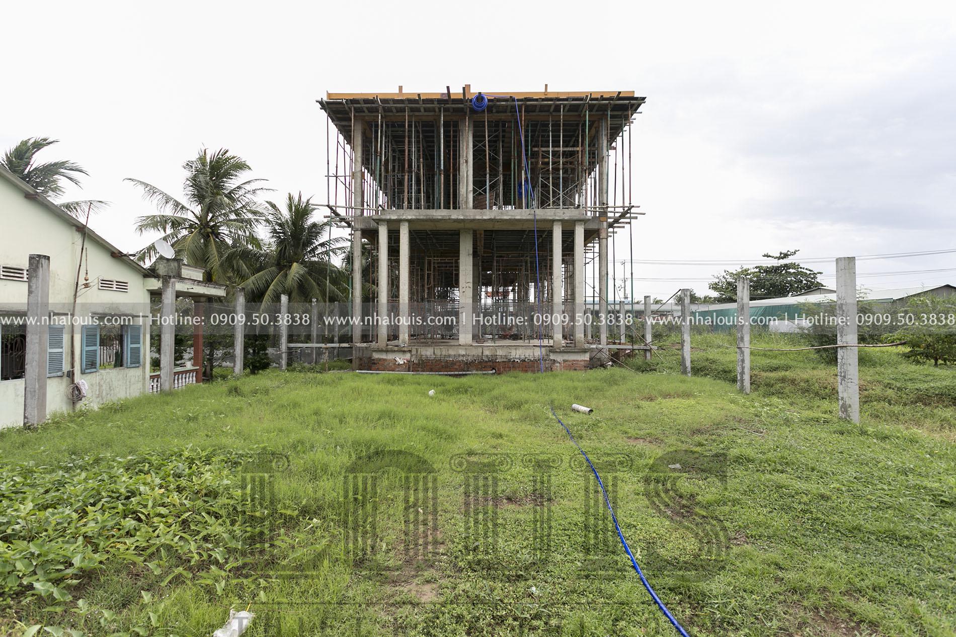 Biệt thự 2 tầng mặt tiền 9m tại Tiền Giang, ý tưởng thú vị cho người lười leo cầu thang