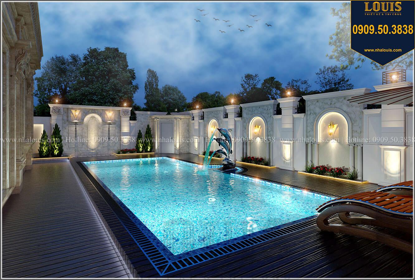 Hồ bơi Mẫu biệt thự cổ điển 4 tầng phong cách vương giả tại Thủ Đức - 13
