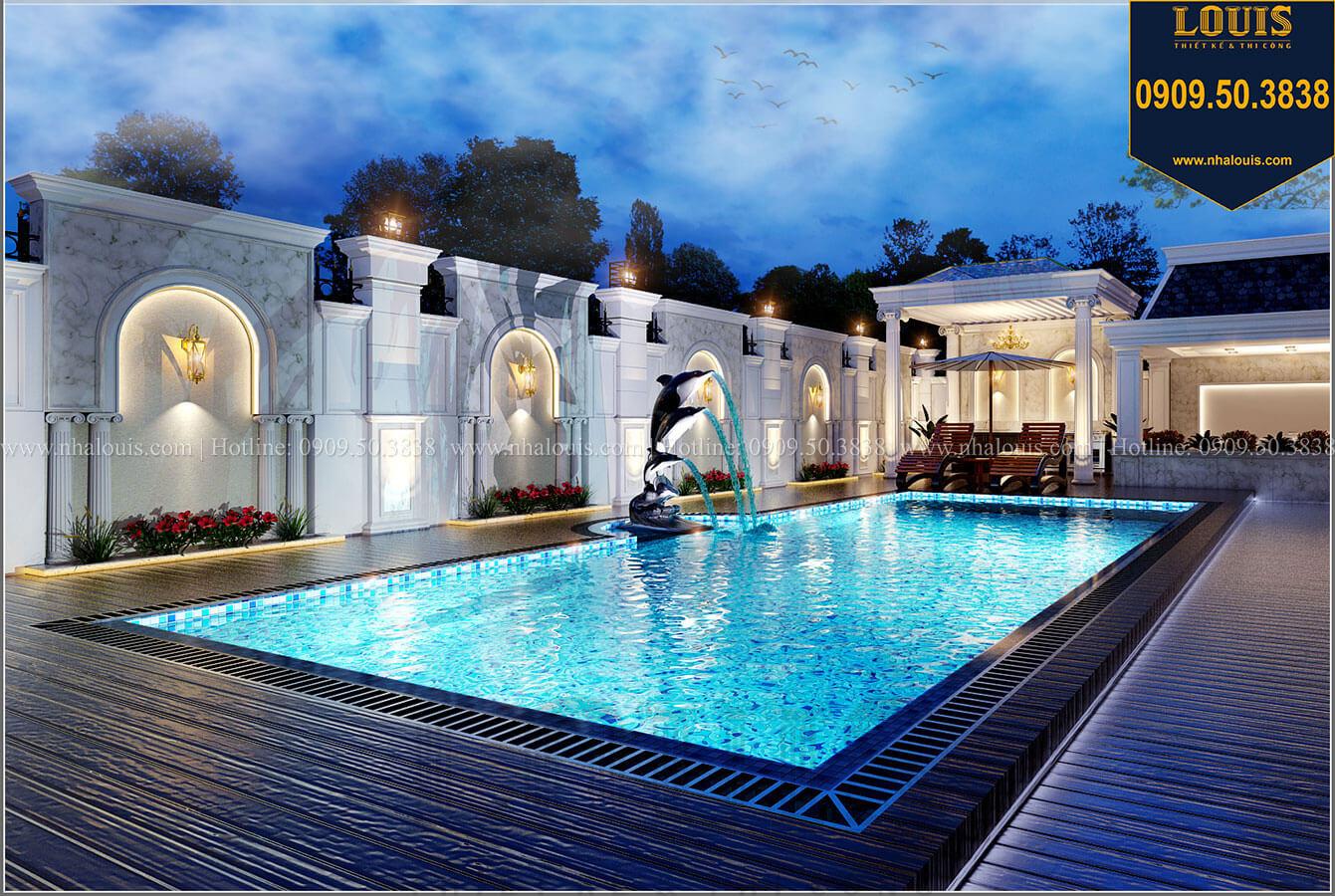 Hồ bơi Mẫu biệt thự cổ điển 4 tầng phong cách vương giả tại Thủ Đức - 14