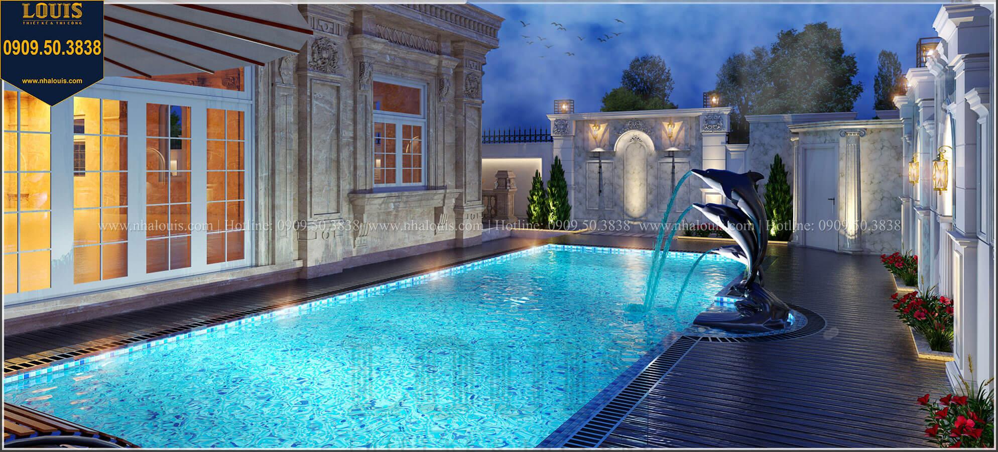 Hồ bơi Mẫu biệt thự cổ điển 4 tầng phong cách vương giả tại Thủ Đức - 15
