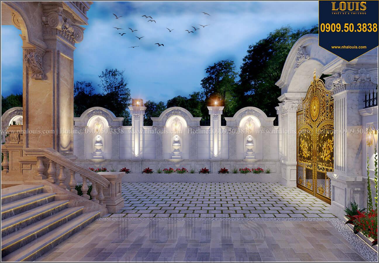 Sân vườn Mẫu biệt thự cổ điển 4 tầng phong cách vương giả tại Thủ Đức - 16