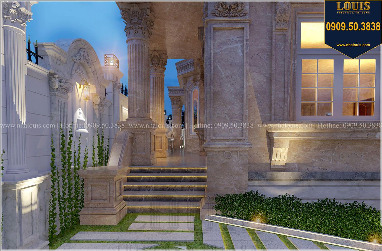 Sân vườn Mẫu biệt thự cổ điển 4 tầng phong cách vương giả tại Thủ Đức - 17