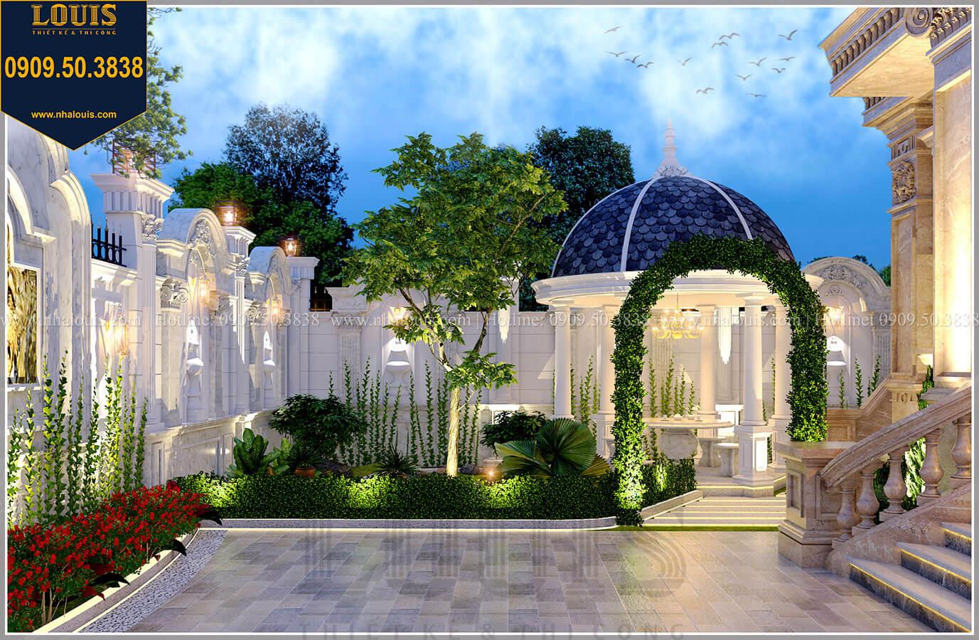 Sân vườn Mẫu biệt thự cổ điển 4 tầng phong cách vương giả tại Thủ Đức - 19