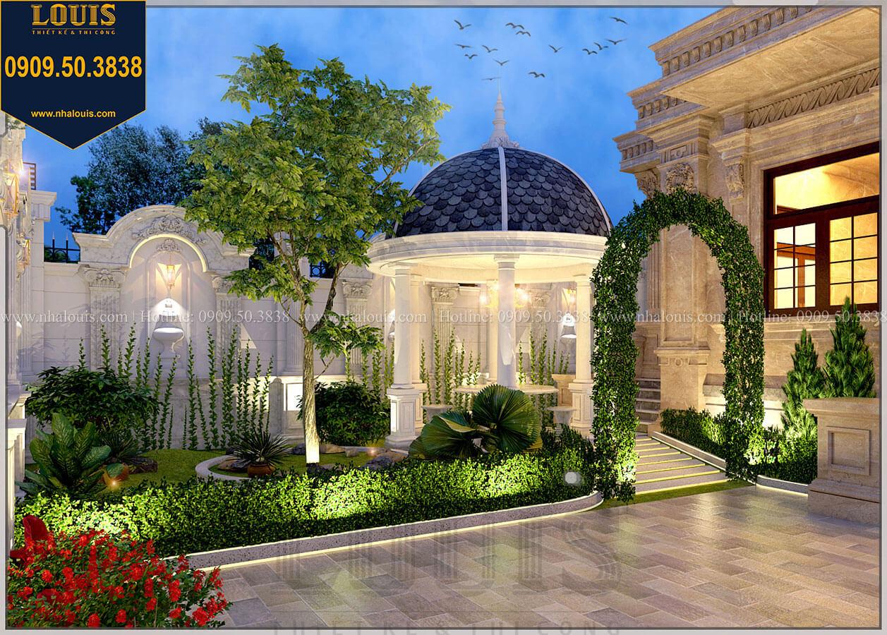 Sân vườn Mẫu biệt thự cổ điển 4 tầng phong cách vương giả tại Thủ Đức - 20