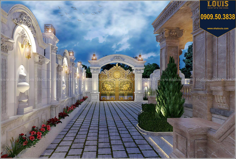 Sân vườn Mẫu biệt thự cổ điển 4 tầng phong cách vương giả tại Thủ Đức - 22