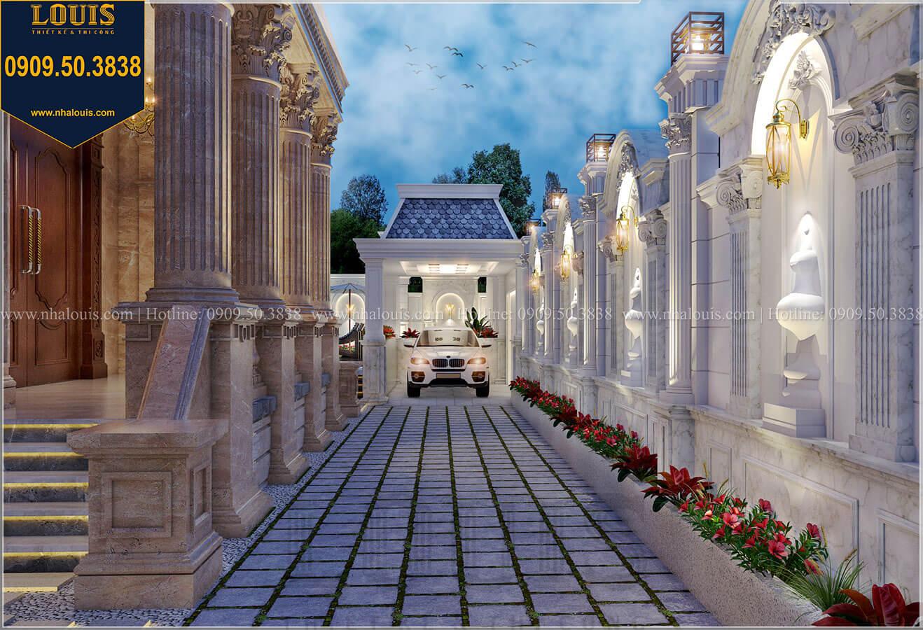 Cổng rào Sân vườn Mẫu biệt thự cổ điển 4 tầng phong cách vương giả tại Thủ Đức - 23
