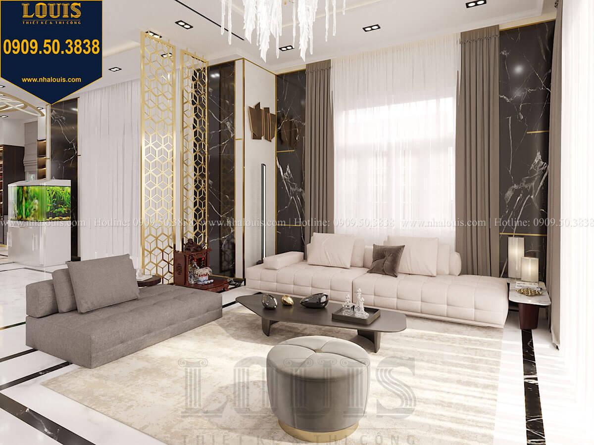 Phòng khách Mẫu biệt thự cổ điển 4 tầng phong cách vương giả tại Thủ Đức - 24