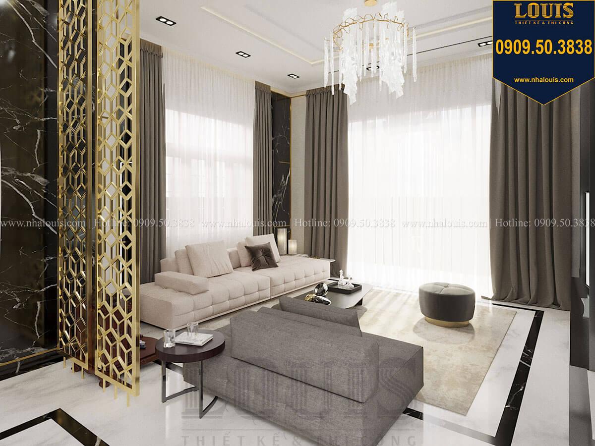 Phòng khách Mẫu biệt thự cổ điển 4 tầng phong cách vương giả tại Thủ Đức - 25