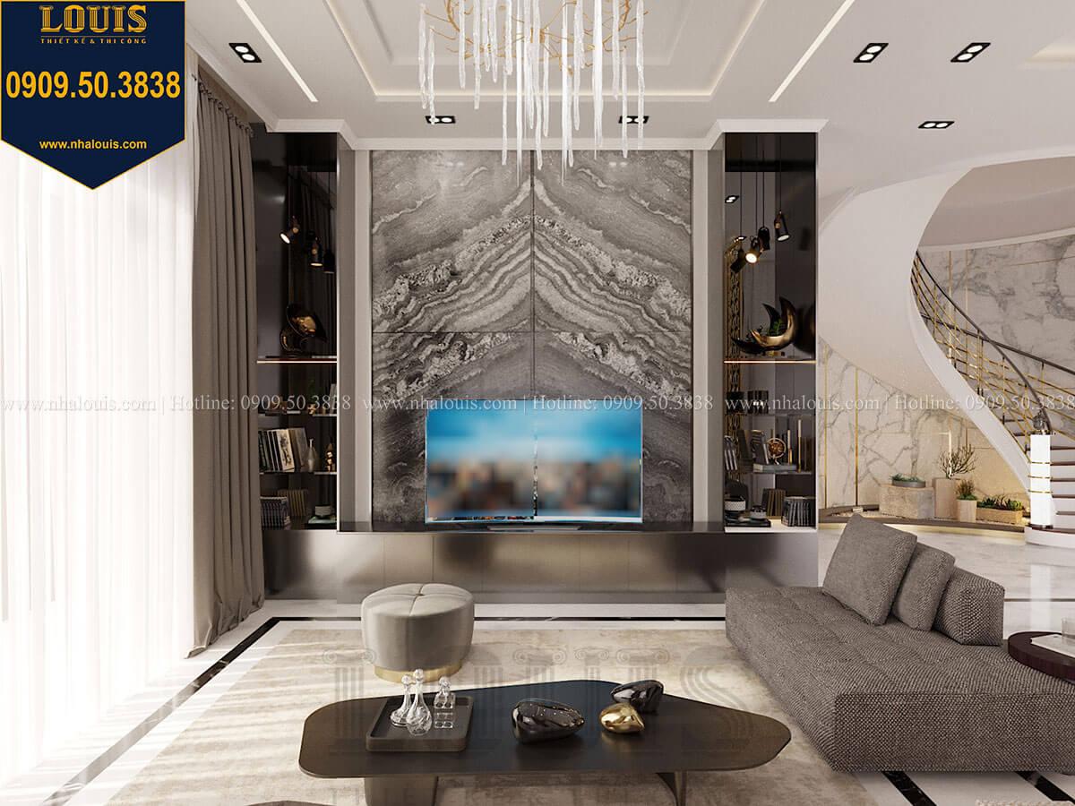 Phòng khách Mẫu biệt thự cổ điển 4 tầng phong cách vương giả tại Thủ Đức - 26