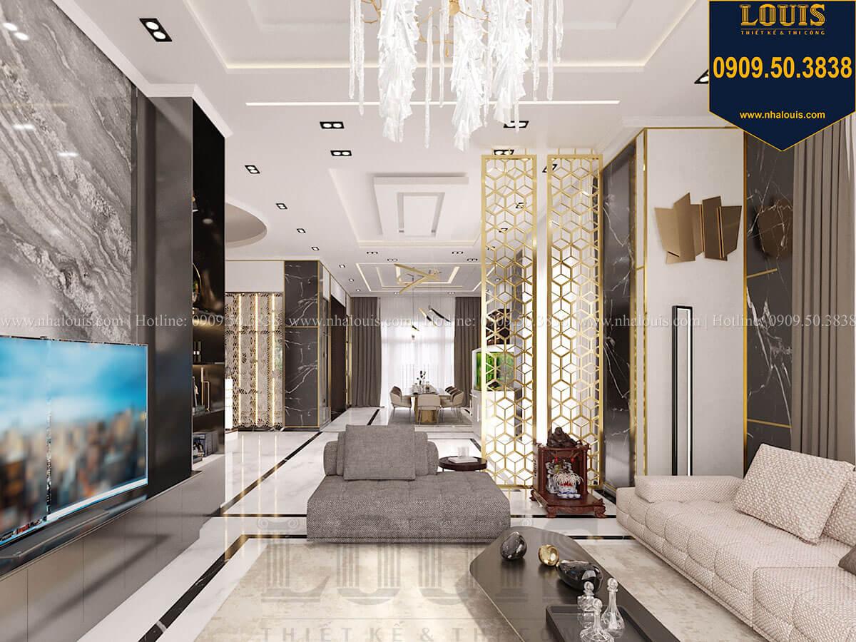 Phòng khách Mẫu biệt thự cổ điển 4 tầng phong cách vương giả tại Thủ Đức - 27