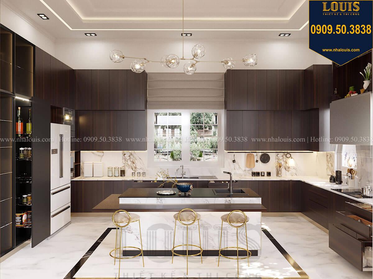 Phòng bếp Mẫu biệt thự cổ điển 4 tầng phong cách vương giả tại Thủ Đức - 28