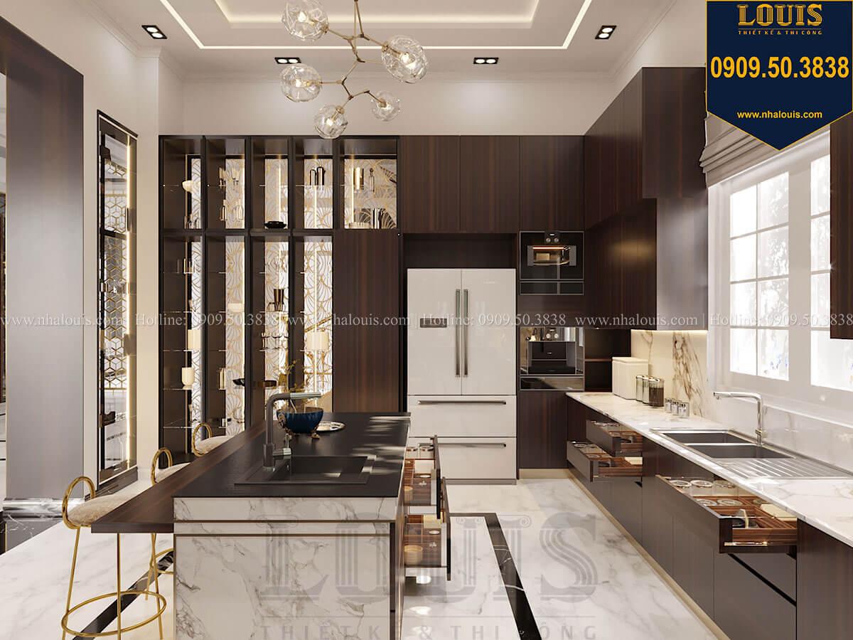 Phòng bếp Mẫu biệt thự cổ điển 4 tầng phong cách vương giả tại Thủ Đức - 29
