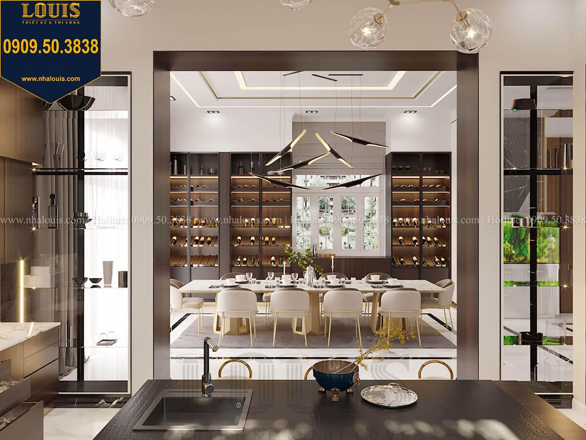 Phòng bếp Mẫu biệt thự cổ điển 4 tầng phong cách vương giả tại Thủ Đức - 31