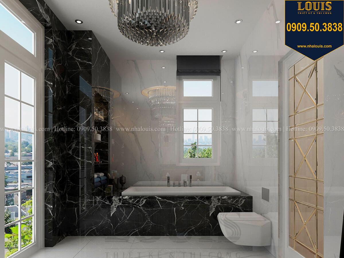 Phòng tắm và WC Mẫu biệt thự cổ điển 4 tầng phong cách vương giả tại Thủ Đức - 44