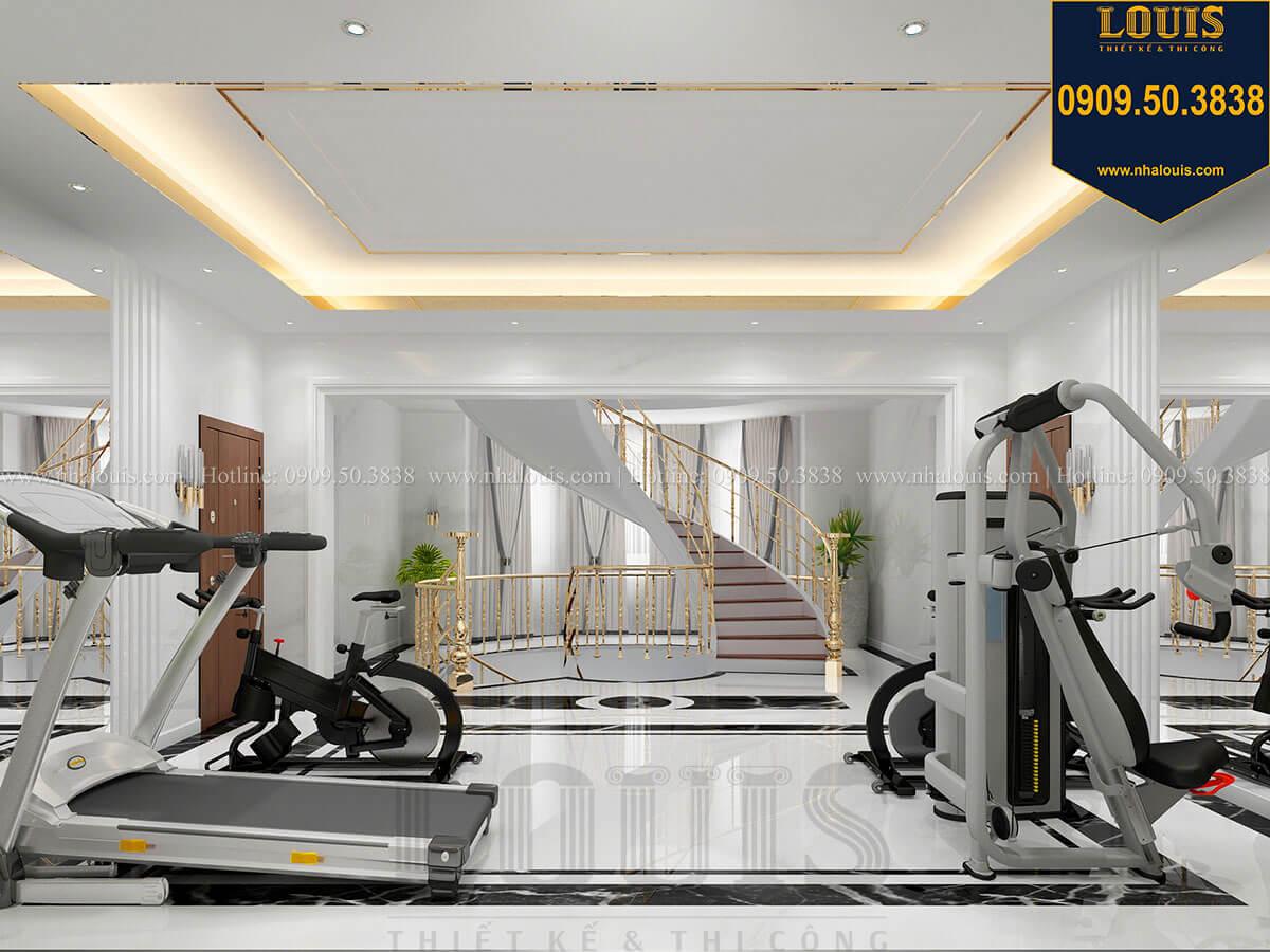 Phòng gym Mẫu biệt thự cổ điển 4 tầng phong cách vương giả tại Thủ Đức - 45