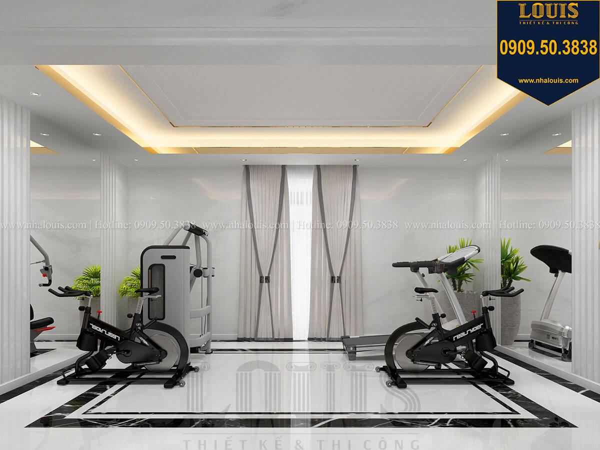 Phòng gym Mẫu biệt thự cổ điển 4 tầng phong cách vương giả tại Thủ Đức - 46