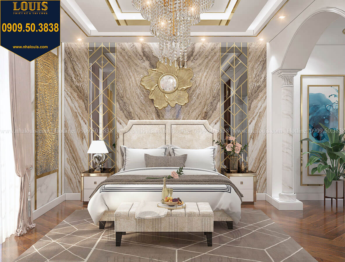 Phòng ngủ master Mẫu biệt thự cổ điển 4 tầng phong cách vương giả tại Thủ Đức - 58