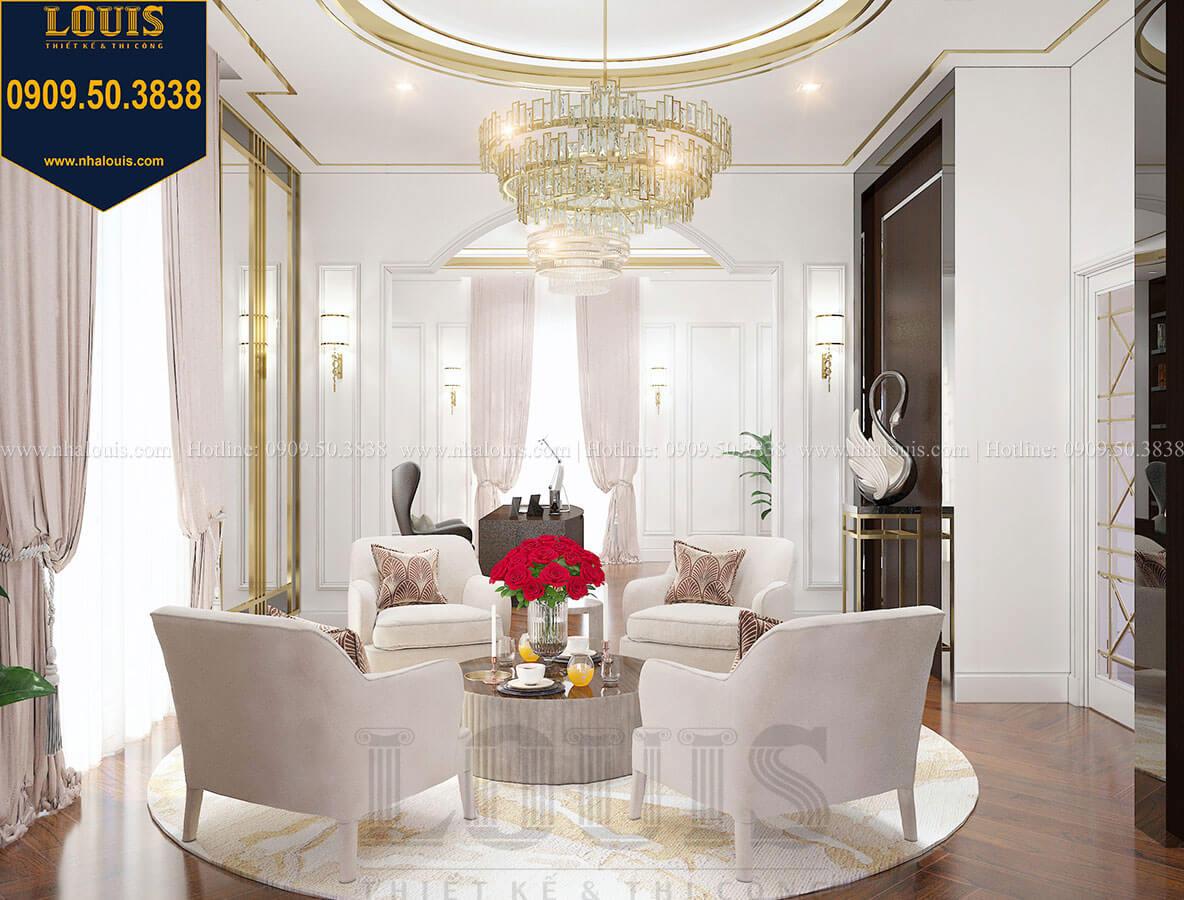 Phòng ngủ master Mẫu biệt thự cổ điển 4 tầng phong cách vương giả tại Thủ Đức - 63