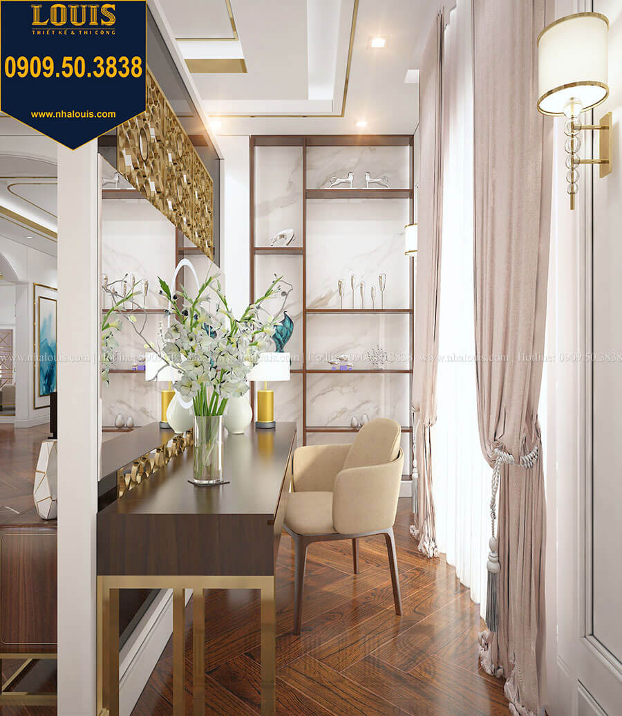 Phòng ngủ master Mẫu biệt thự cổ điển 4 tầng phong cách vương giả tại Thủ Đức - 65