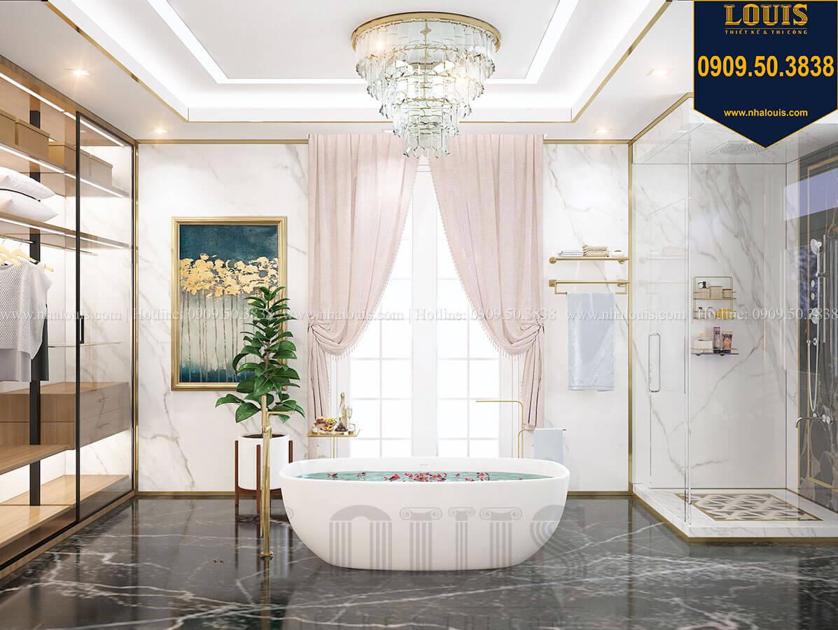 Phòng tắm và WC Mẫu biệt thự cổ điển 4 tầng phong cách vương giả tại Thủ Đức - 67