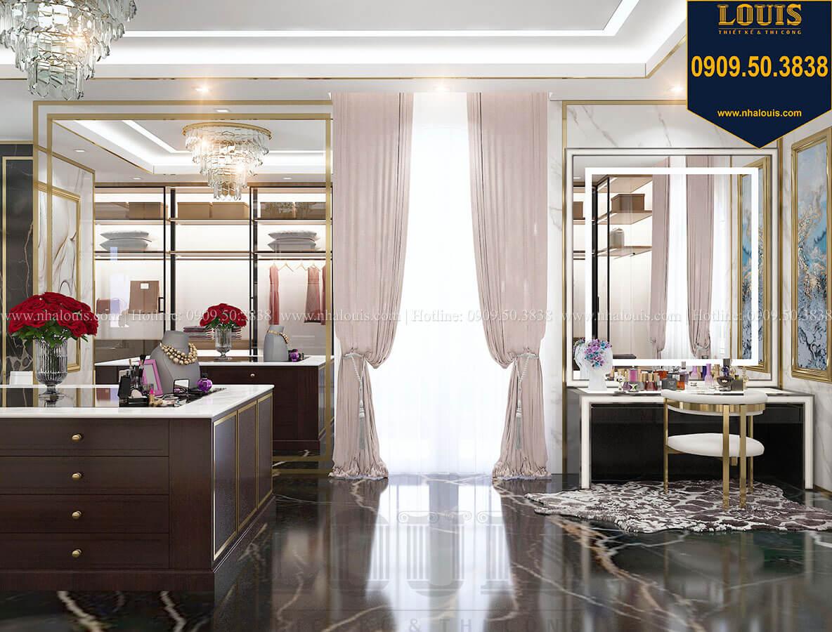Phòng thay đồ Mẫu biệt thự cổ điển 4 tầng phong cách vương giả tại Thủ Đức - 72