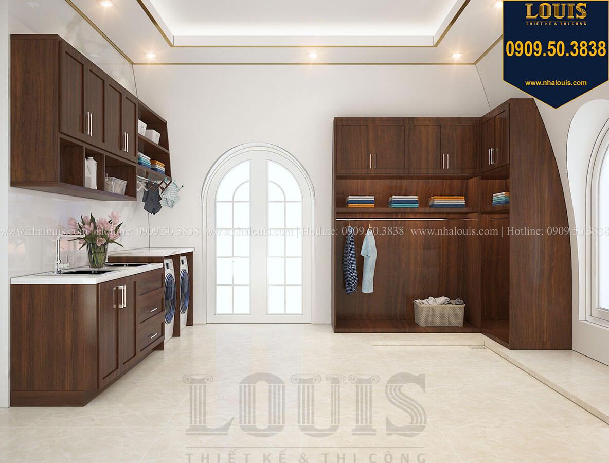 Phòng giặt ủi Mẫu biệt thự cổ điển 4 tầng phong cách vương giả tại Thủ Đức - 79