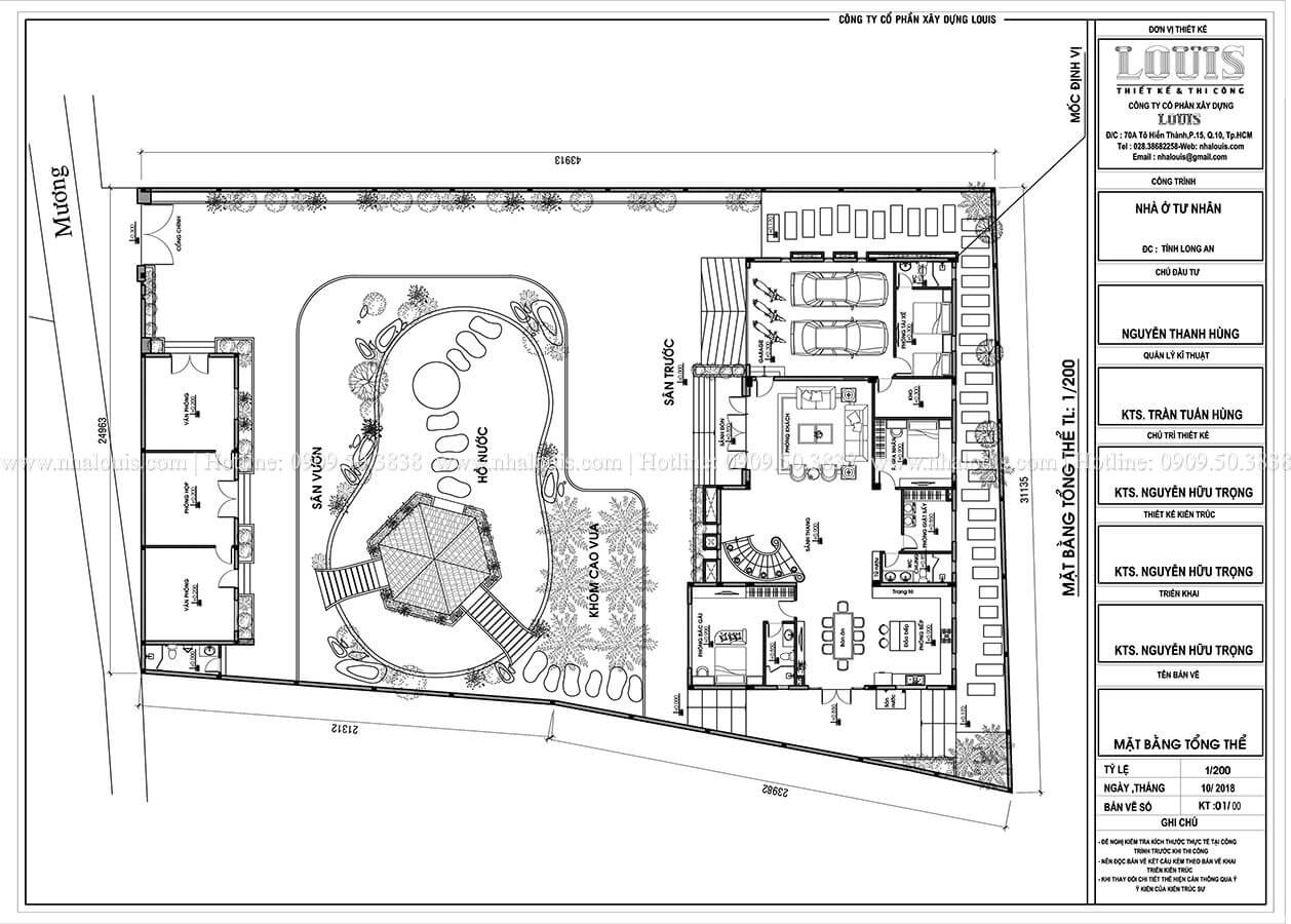 Mặt bằng tổng thể Mẫu biệt thự vườn 2 tầng phong cách hiện đại tại Long An - 17