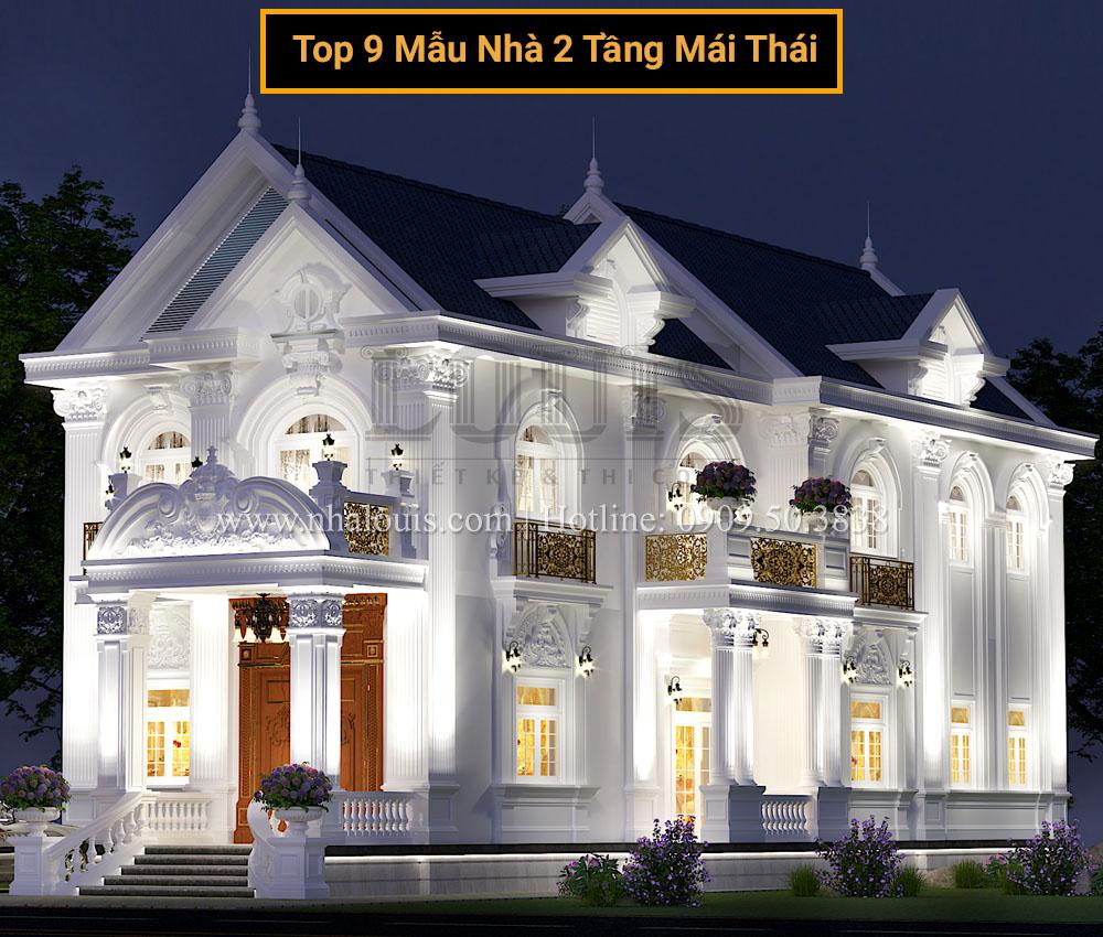 9 Mẫu nhà 2 tầng mái thái đa phong cách đẹp xiêu lòng gia chủ