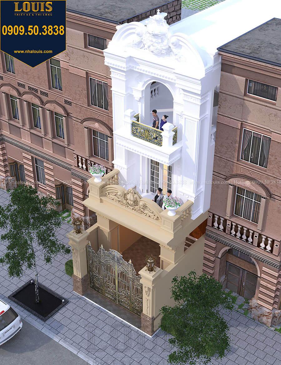 Mặt tiền Mẫu nhà phố 3 tầng tân cổ điển quý phái tại Thủ Đức - 03