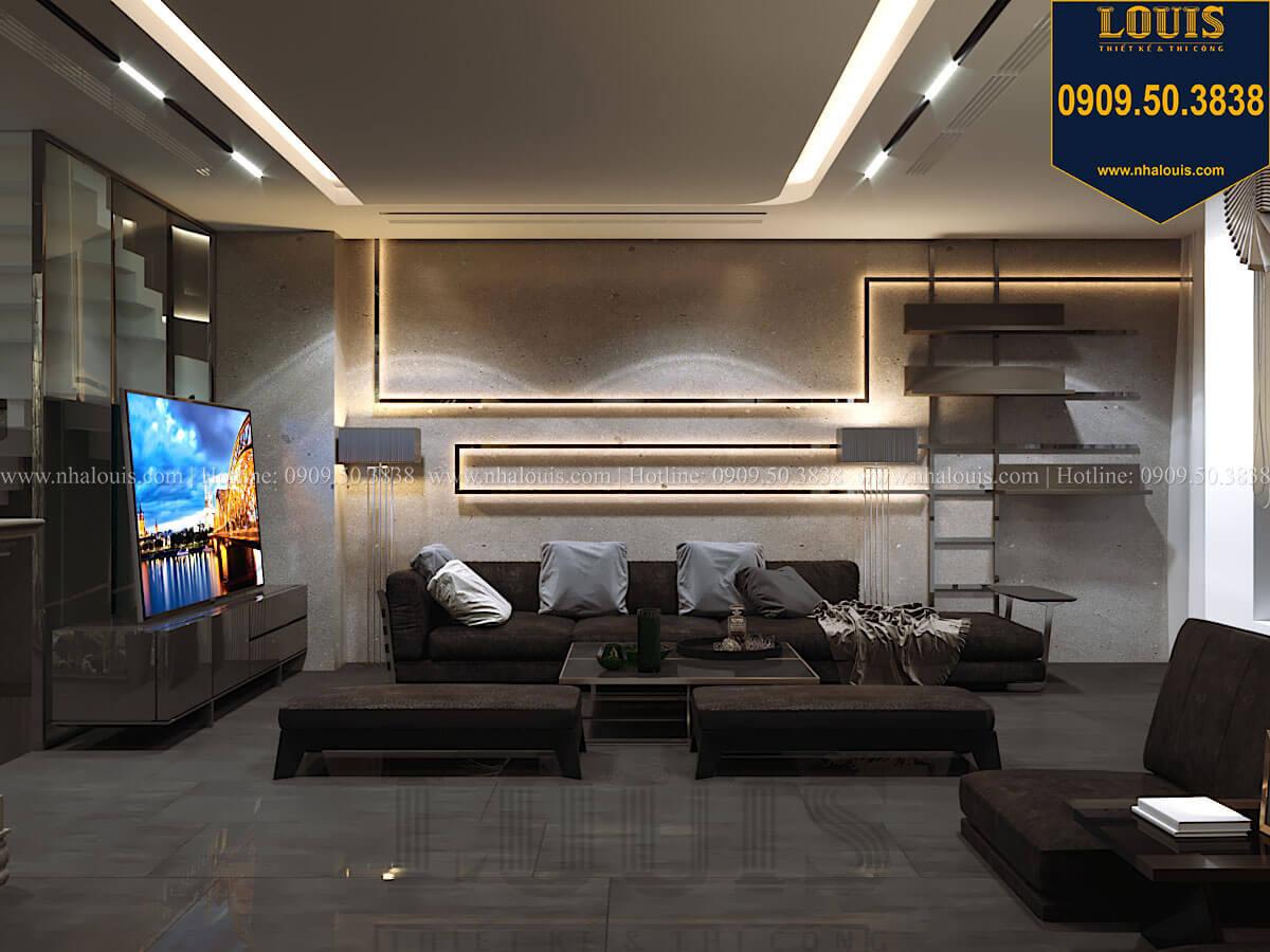 Phòng khách Mẫu nhà phố 4 tầng 7x16m có tầng hầm tiện lợi tại Bình Chánh - 12