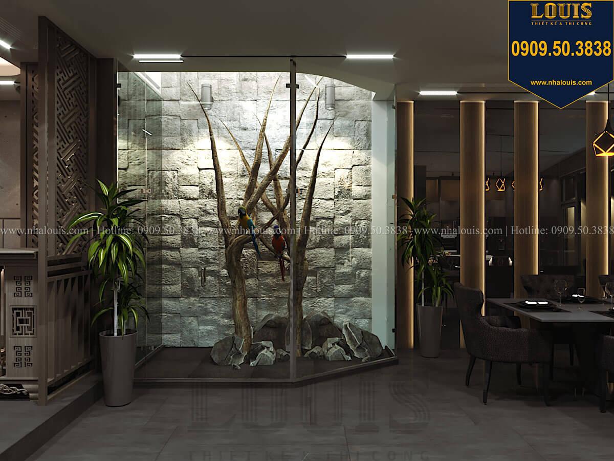 Phòng khách Mẫu nhà phố 4 tầng 7x16m có tầng hầm tiện lợi tại Bình Chánh - 15