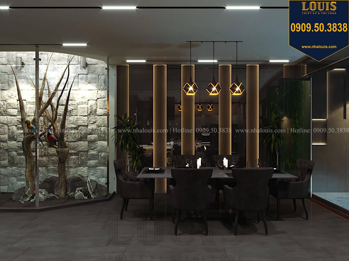 Phòng ăn Mẫu nhà phố 4 tầng 7x16m có tầng hầm tiện lợi tại Bình Chánh - 16